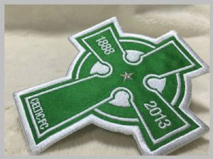 Beautiful Oval custom laundry labels Custom Clothing Patches Embroidered Sew On Badges Eco - Friendly
