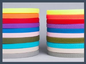 Blended hook and loop velcro fastener tape, colours