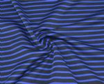 Blue Black Stripe Polyester Knitted Fabric PPF-001