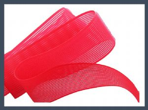 China made popular hair band hook & loop piece of velcro, red