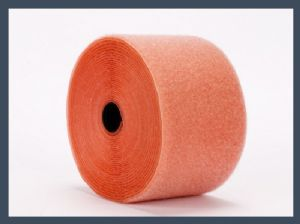 China supplier wholesale soft nylon loop velcro tape loop only,orange