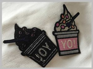 Clothing Decoration Flower Iron On Patches clothing labels for business, Beautiful Flower Embroidered Applique Patches