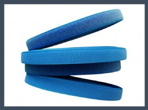 Factory selling polyester hook and loop,blue