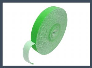 Fastener strong velcro 10mm 20mm back to back hook and loop cable tie,green
