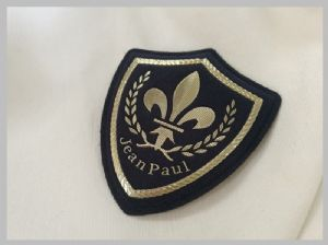 Leather Material Elegant custom printed sewing labels Custom Clothing Patches With Hook And Loop