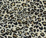 Leopard printed knit Polyester fabric PLF-002