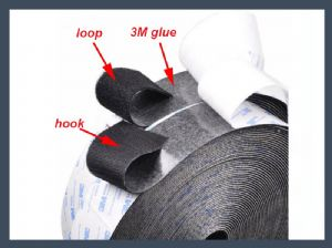 Made in china 3M adhesive hook and loop 2 inch velcro roll,blending