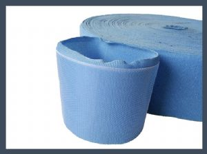 Supply china products velcro circles 100mm back to back hook and loop cable tie,sky blue