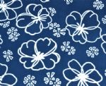 White Flower Lycra Swimsuit Fabric SSF-025