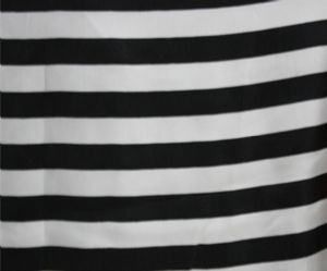 White and black stripe dress blouse fabric SBF-003