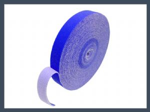 Wholesale high quality heavy duty velcro straps 10mm 20mm back to back hook and loop cable tie,blue