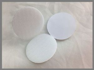 Woven Nylon Hook And Loop Coins Die Cut Adhesive Backed Hook Loop Dots Or Circles