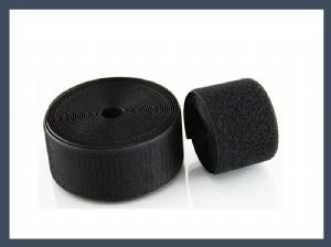 china factory 40%nylon 60%polyester blended hook and loop velcro,black