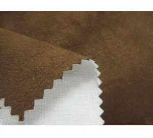 100% poly suede with knitting fabric bonded for garments PSF-025