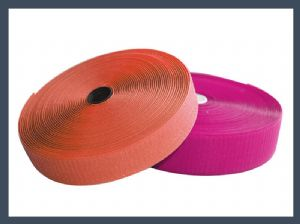 product show 40%nylon 60%polyester blended hook and loop velcro hook and loop fastener,colours
