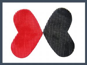 wholesale high quality heart-shaped fringe hook & loop double sided adhesive velcro